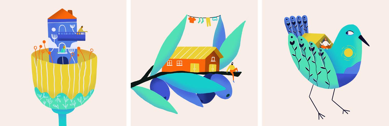 Ana Gaman Tiny House illustration